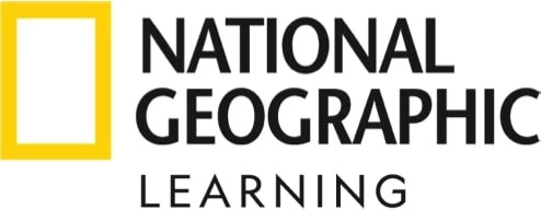National Geographic Learning logo in yellow and black, representing Cengage's English Language Teaching brand