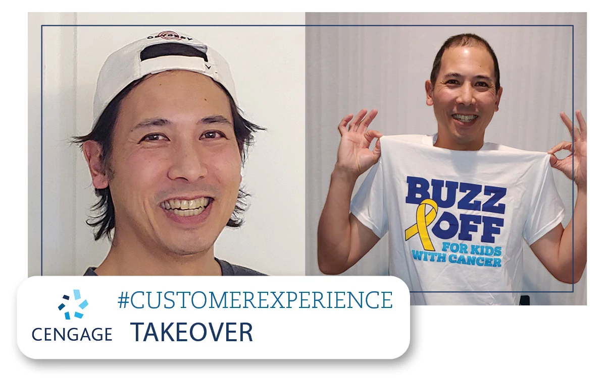 Jason Chin, SVP Service Experience and Digital Operations, feels empowered to pursue outside fundrasing activities, like cutting hair for kids with cancer before and after.jpg