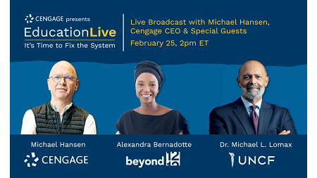 Education Live with Michael Hansen, Cengage CEO & Special Guests