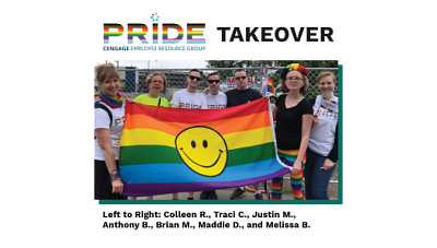 Cengage employees at local PRIDE event