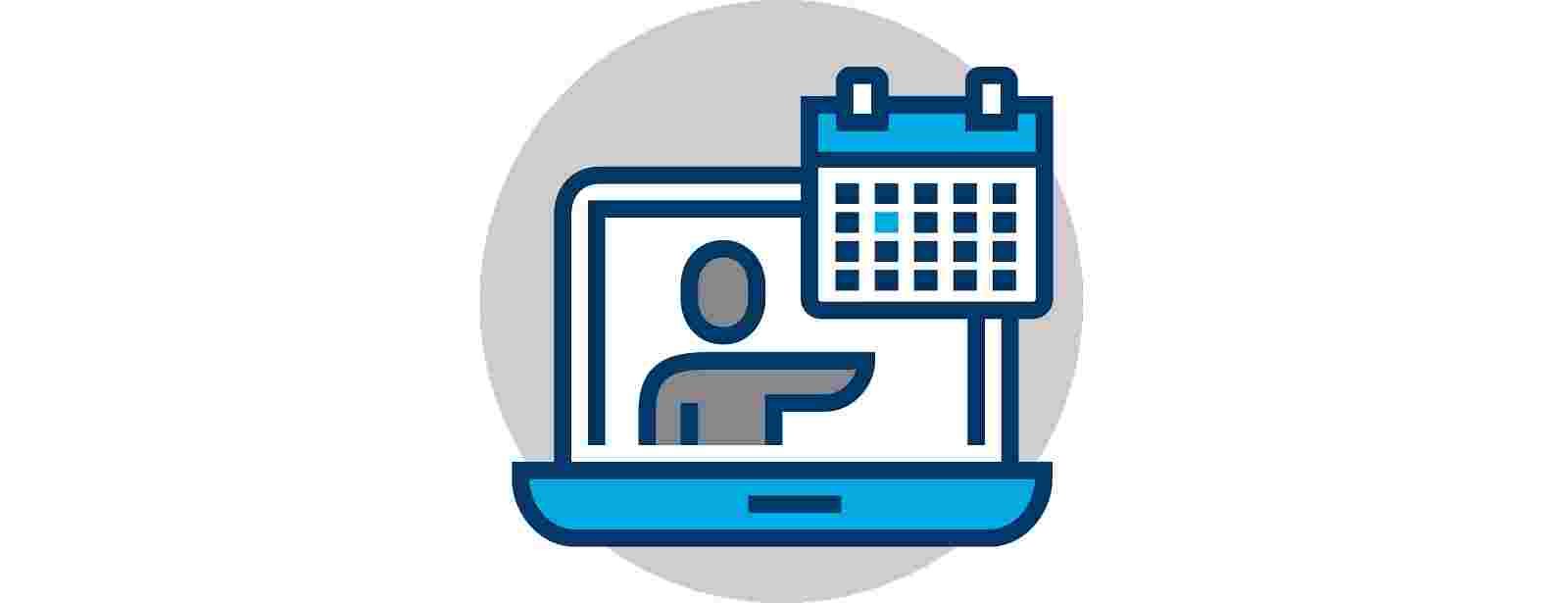 laptop and calendar