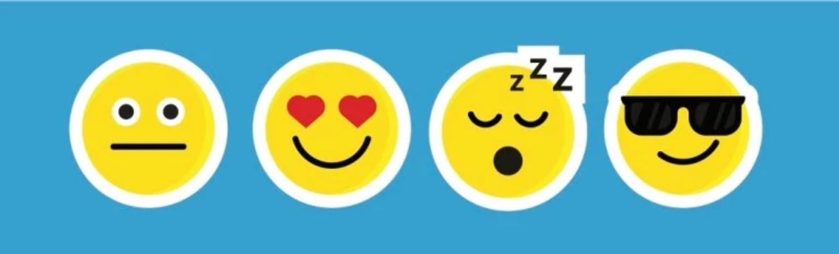 Emoticons with social media reactions representing user feedback