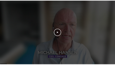 Michael Hansen, CEO, Cengage talks about what higher education institutions should be doing to help students better prepare for entering the workforce.