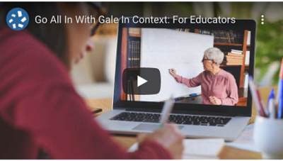 Gale has launched Gale In Context: For Educators' new Learning Center, an on-demand professional learning hub for finding, organizing and learning how to teach – virtually or in-person – using the content created within For Educators.