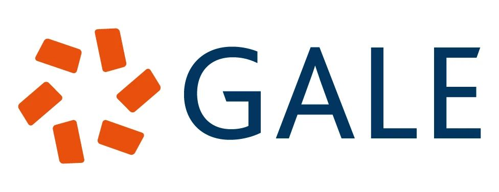 Gale logo with a blue pinwheel, representing Cengage's research brand